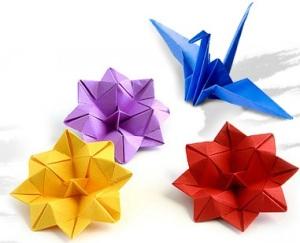origami flowers & crane
