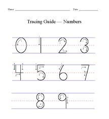 practice sheet for penmanship printing numbers